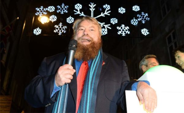 Brian Blessed at St James' charity Christmas concert in London November 2015