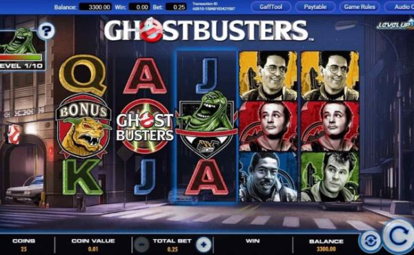 Ghostbusters online slot casino game