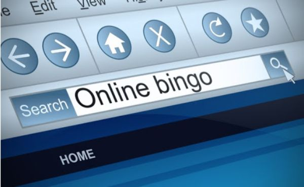 """""""Online Bingo"""" Typed Into the Search Bar on a Computer Screen"""