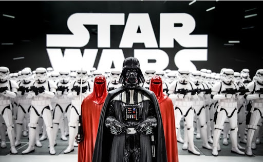 Darth Vader with Stormtroopers from the Star Wars Movies