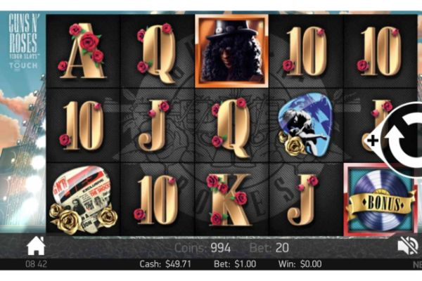 Guns 'N Roses online slot casino game